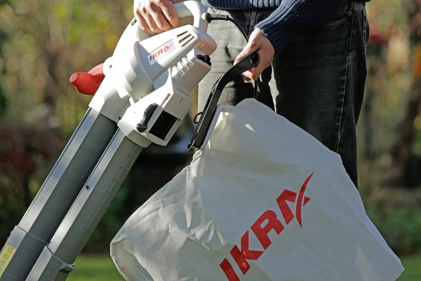IKRA Laubbläser Laubsauger mit Häcksler IBV 2800 E Fangsack abnehmbar