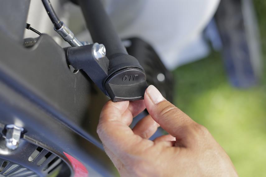 IKRA Benzin Rasenmäher IBRM 1446 Schnitthöhenverstellung Öl nachfüllen