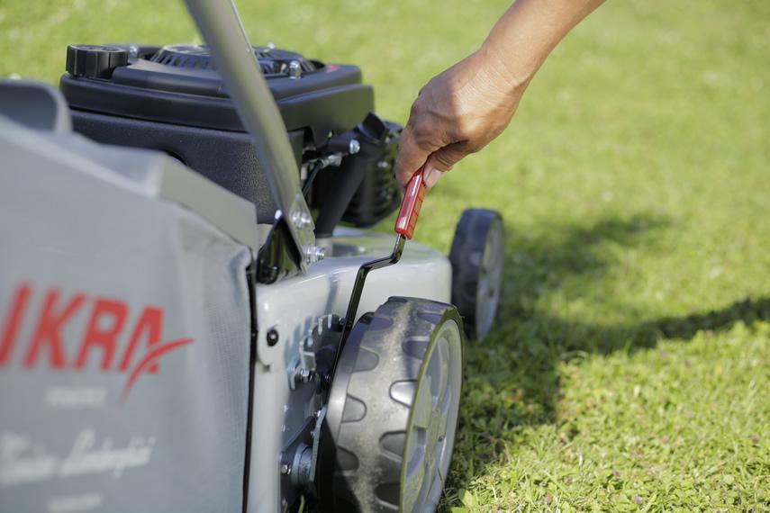 IKRA Benzin Rasenmäher IBRM 1446 Schnitthöhenverstellung