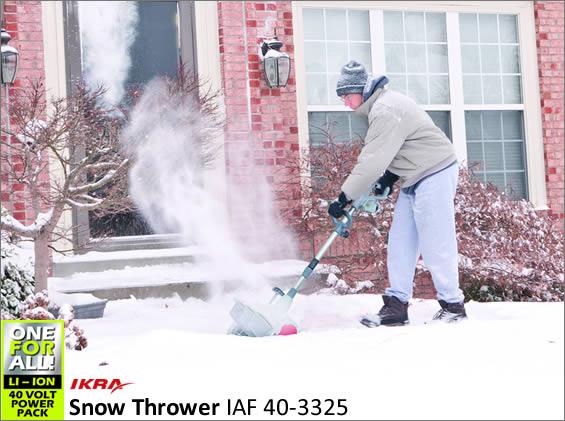 Cordless Snow Thrower