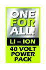 40 Volt 2,5 Ah Li-Ionen Akku Ersatzakku