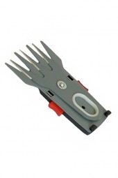 Grass shear blade with tool-free quick blade change
