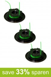 String Trimmer Replacement Spools DA-F4 & DA-F5 (3-Pack)