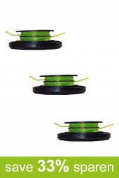 String Trimmer Replacement Spools DA-S3 (3-Pack)