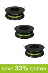 String Trimmer Replacement Spools DV-S (3-Pack)
