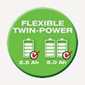 40 Volt Akku Twin Power