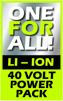 40 Volt ONE FOR ALL by IKRA