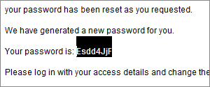 copy password from e-mail