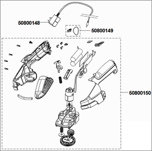exploded view drawing spare parts