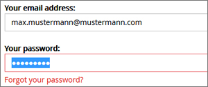 Paste forgotten password