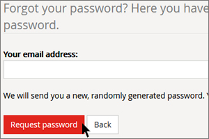 Request forgotten password