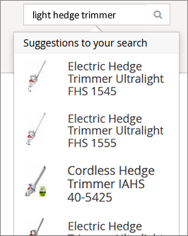 Ordering a lightweight hedgetrimmer