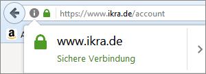 IKRA Browser Verbindung sicher