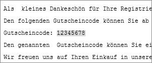 Gutscheincode kopieren