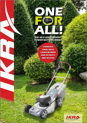 PDF brochure IKRA 40V ONE FOR ALL Cordless Steeldeck Lawn Mower English