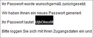 Paswort kopieren