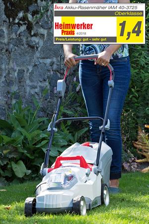 IKRA Cordless Lawn Mower IAM 40-3725