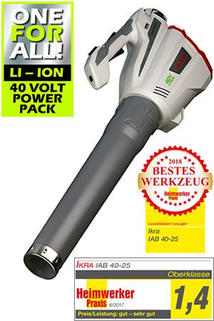 IKRA Cordless Leaf Blower IAB 40-25