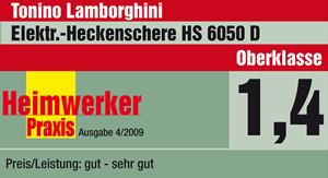 Tonino Lamborghini Heckenschere HS 6050 D Produkttest