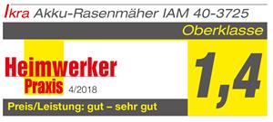 Produkttest Rasenmäher IAM 40-3725