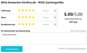 Trusted Shops Product Reviews IKRA