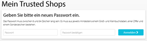 Trusted Shops Neues Passwort