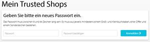 Trusted Shops Neues Passwort